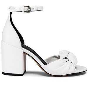 Rebecca Minkoff White Capriana Leather Sandals